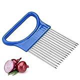 1 Stück Zwiebel Kartoffelschneider Halter Gemüsekartoffelschneider 15 Nadeln Zwiebelhalter für Schneiden von Gemüsefrüchten Küchenrestaurant Chef