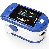 Pulsoximeter PULOX PO-200 Solo in Blau Fingerpulsoximeter für die Messung des Puls und der Sauerstoffsättigung am Finger