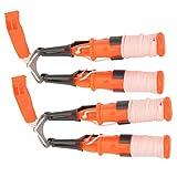 SALUTUYA Praktische Dual-Handheld-Eispickel Bright Orange 2-TLG, Lebensrettung im Freien
