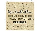 Interluxe Holzschild XL - Mein Konto ist leer - Geschenk, lustiges Schild
