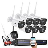 ANNKE 3MP WLAN Wireless Überwachungskamera Set 8CH 5MP NVR mit 8PCS 1296P IP Überwachungskamera 1TB Festplatte 30M IR Nachtsicht Funk Überwachungsset Aussen und Ihnen überwachungssystem