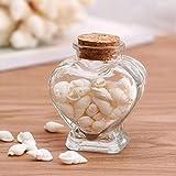 Gläser Mit Deckel, Glasflasche, Herzform Küche Storage Jars Speicher Löschen Gläser Flasche Container Vials Wünschen Flasche Mit Kork