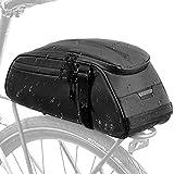 FSCLJ Fahrradsitztasche, Fahrradtaschen-Gepäckträgertasche, reflektierende Wasserabweisende Fahrrad-Rücksitztasche Gepäcktasche Aufbewahrung Fahrradträger-Gepäckträgertasche 8L