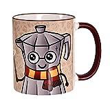 Elbenwald Tasse mit Espresso Patronum Rundumdruck für Harry Potter Fans 320ml Keramik beige