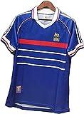 YOYOL Fussball Jersey Training Jersey Erwachsene Retro Herren Jersey 1998 Frankreich 10# Zidane 12# Henry Training Uniform T-Shirt, Schnelles trockenes Sweatshirt Kurzarm Sommer Herrenclub