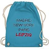 Städte & Länder Kind - Weltstadt Leipzig - Unisize - Hellblau - turnbeutel leipzig - WM110 - Turnbeutel und Stoffbeutel aus Baumwolle