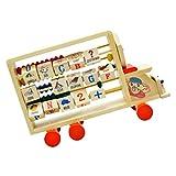 Kisangel Holz Abacus Spielzeug Auto Form Abakus Rechenschieber Zählrahmen Lernspielzeug Mathematik Lernhilfe Berechnen Blöcke Tool Werkzeug für Kinder Geschenk