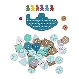AOWA 1 Set Deep Sea Adventure Brettspiel mit englischen Anleitung Kartenspiel 2-6 Spieler