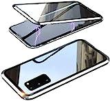 JianSaint Kompatibel mit dem Gehäuse für magnetische Adsorptionstechnologie der Samsung Galaxy-Serie, Metallrahmen-Klarsichtfolie aus gehärtetem G