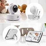 Reer 80440 Video-Babyphone mit Nachtsicht-Kamera und Bewegungsverfolgung, weiß, BabyCam XL