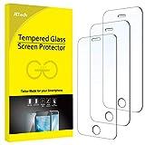 JETech Schutzfolie Kompatibel mit iPhone SE (Ausgabe 2016), iPhone 5s, iPhone 5 und iPhone 5c, Gehärtetem Glas Displayschutzfolie, 3 Stück