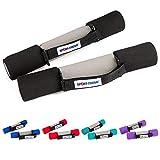 Sport-Thieme Softgrip Hantel Set | Aerobic-, Walking-, Gymnastik- Kurzhantel | 5 Gewichtsklassen: 0,5kg - 3kg | Hand- u. Fuß-Schlaufen, Soft-Grip Gummi, Metallkern | Markenqualität