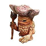 Fee Pilz Elfe Schamane Zaubertroll, Märchenfigur 12 cm Fee Pilz Elfe Schamane Zaubertroll Gartendeko Figur aus hochwertigem Resin