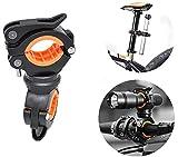 letuxiashop FahrradzubehöR, Fahrradlicht Halterung, Um 360 ° Drehbare Lichthalterung - Universelle Lenker Clip-Installation. Led Taschenlampenclip, Lenkerclip