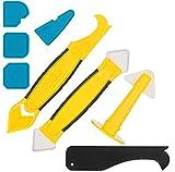Silikonentferner, Silikon Fugenwerkzeug Set mit Dichtung Werkzeug, Multifunktionale 8 in 1, für Küche Badezimmer Boden