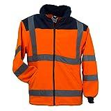 URG Fleece Warnjacke Winterjacke Warnschutzjacke Arbeitsjacke Orange (POL-HSV-OR) (XL)