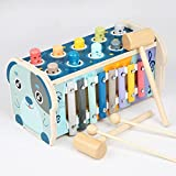 Kinder Multifunktionale Hammer Spiel Kits Feines Training von Percussion Bewegung Konzentration Kinderpuzzle Früherziehung Werkzeuge für 3 4 5 6 Jahre alt Jungen Mädchen