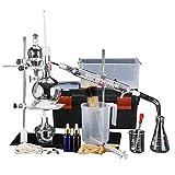XXJIC Labor ätherisches Öldestillationsgerät 500ml Wasserdestillierer Reiniger Glaswaren Kits W/Confenser Rohr Lab Glasw