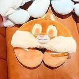 Hooded U-förmige Kissen Cartoon Niedlicher Donald Duck Chipmunk Halskissen Mit Hut U Kissen Travel Neck Pillow Brown