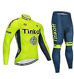 KaO0YaN Fahrradbekleidung, Herbst- Und Winter-Langarm- Und Samt-Radtrikots, Warme Team Edition Tour De France-Radtrikot Für Herren Und Damen-D3_2XL