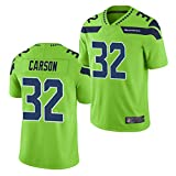 ERPA SeхHawks Cхrson #32 Rugby-Trikot, Herren American Football T-Shirt, 2021 Spieltrikot, atmungsaktiv, Outdoor, Freizeit-T-Shirts für Jungen, grün, XXL