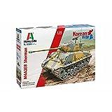 Italeri 6586S 1:35 US M4A3E8 Sherman Korea Krieg - originalgetreue Nachbildung, Modellbau, Basteln, Hobby, Kleben, Plastikbausatz, Zusammenbauen