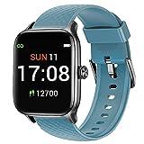 Letsfit EW1 Smartwatch für Damen Herren, 1.3 Zoll Voll Touchscreen Fitness Tracker mit Pulsuhr Schlafmonitor & Blutsauerstoffsättigung, Sportuhr mit Schrittzähler, 5ATM Wasserdicht Smart Watch