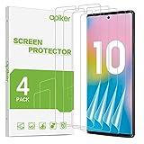 apiker TPU Schutzfolie für Samsung Galaxy Note 10 [4 Stück], TPU Displayschutzfolie, blasenfrei, hohe Definition, hohe Empfindlichk