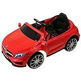HOMCOM Mercedes Benz AMG Lizenz Kinder Kinderfahrzeug Elektroauto 1 x 6 V Motor Fernbedienung USB-Anschluss für MP3 Licht Rot 100 x 58 x 46 cm