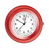 Ellemka - JCM-2103 NN H+ PS Stethoscope Krankenschwesteruhr Ansteckuhr Stethoskop Analog Pulsskala Anzeige Quarz Digitales Uhrwerk Pflege Medizin Schwestern - Red Rot