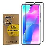 [2 Pack] 3D Curved Full Coverage Tempered Glass for Xiaomi Mi 10 5G / Mi10 Pro 5G M2001J1G 6.67inch Ultra-schlanke Anti-Fingerabdruck-HD-Display