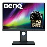BenQ SW240 61,21 cm (24,1 Zoll) PhotoVue Monitor (LED, 1920 x 1200 Pixel, 16:10, 99% Adobe RGB, 95% DCI-P3, 14bit 3D LUT, IPS-Panel), Monitor für Fotografen, schw