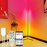 LANMOU LED Stehlampe Dimmbar mit Fernbedienung, APP Steuerung Musik Sync RGB Stehleuchte für Wohnzimmer Schlafzimmer, Farbwechsel Lichtsaeule RGB Ecklampe Innenatmosphäre Lampe Deko Standleuchte