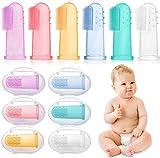 HBselect 6 pcs Baby Zahnbürsten Zahnpflege Kinder Silikon Finger Mundpflege mit Aufbewahrungsbox Zähneputzen Massage für Mundhöhle
