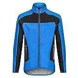 Fahrradtrikot für Herren, Winter, winddicht, Thermo-Fahrradkleidung, atmungsaktiver Stoff (Größe: S, Farbe: Foto Farbe)