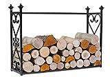 Kaminholzregal 'Aldi' Breite 90cm Holzregal für Kaminholz Kaminholzablage aus Stahl Kaminholzständer CookKing