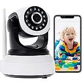 WLAN IP Kamera Überwachungskamera Innen Full HD 1080P Babyphone WIFI PTZ Innenkamera Haustier Bewegungserkennungsalarm Pan 355°/Tilt 90° 2-Wege-Audio Nachtsicht APP-Steuerung,APP:CamHi 【Kamera+128G】