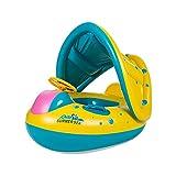 AZCX Baby aufblasbarer Pool Ring Runde Schwimmen Sitz Float Boot Baby Swim Pool Spielzeug Autoform □ Hilfe mit Horn