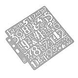 Wanfor Zahlen Zeichnung Schablonen Vorlage Malerei Scrapbooking Prägung DIY Alben