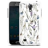 DeinDesign Hard Case kompatibel mit Samsung Galaxy S4 Mini Schutzhülle weiß Smartphone Backcover Blumen Muster Wiese
