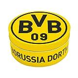 Borussia Dortmund Bonbons in dekorativer Metalldose, Zitrone-Cola-Geschmack 200 g Hartkaramelle BVB 09