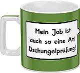 Sheepworld 44061 Tasse 'Mein Job ist auch so eine Art Dschungelprüfung!'