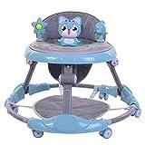 WSTERAO Lauflernhilfe Gehfrei Lauflernwagen Babywalker Klappbar Laufhilfe Kätzchen Babyschaukel, Laufstuhl Höhenverstellbar