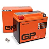 GP-PRO GTX12-BS 12V 10Ah GEL-Batterie (Kompatibel mit YTX12-BS / 51012) (Wartungsfrei & Versiegelt) Akkumulator Motorrad Motorradbatterie