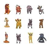 Smileh Der König der Löwen Cake Topper Figuren Der König der Löwen Kuchen Dekoration Figuren Lion King Mini Figuren Set 12 Stück