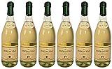 Frizzantino bianco dolce Gualtieri Dell`Emilia IGT (6 x 0,75 L) - Vino Frizzante - Weißer Süßer Perlwein 7,5% Vol. aus Italien