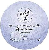 Zur Kommunion für deine Torten mit Wunschname, Zuckerbild, Essbares Foto für Torten, Fondant, Tortenaufleger Ø 20cm, 0182c