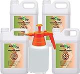 INSI GO 4x5L+2Ltr Sprüher Anti Insekten Spray - Universal Insekten-Spray gegen Insekten, Ungeziefer und deren Larven - auf Wasserbasis - geruchlos Insekten im Haus bekämpfen