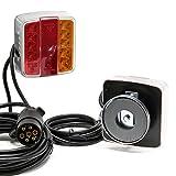 LED Rückleuchte mit Magneten, 7-poliger Stecker, 12V, E11, für Anhänger