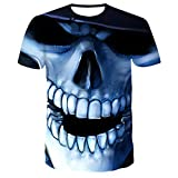 T-fashion shop Neu im Jahr 2021,3D Digitaldruck T-Shirt Persönlichkeit Sommer Poker 骷髅 Muster-Q_3XL.